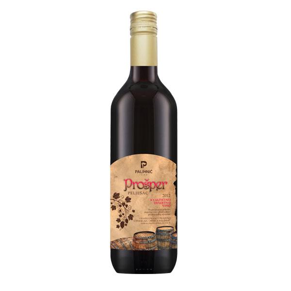 Prošper, desertno crno vino sorte plavac mali